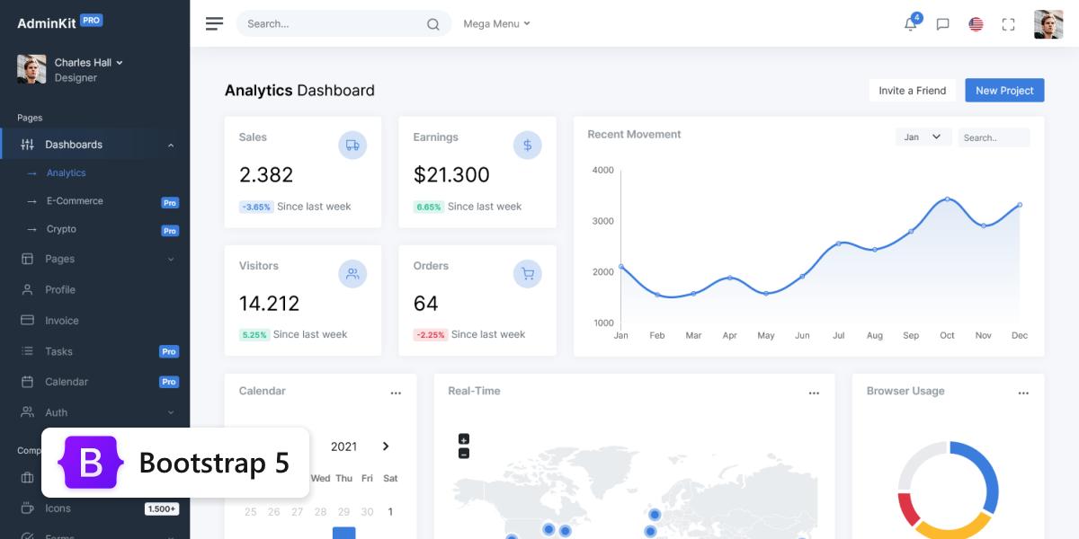 AdminKit - Free & Premium Bootstrap 5 Admin Template